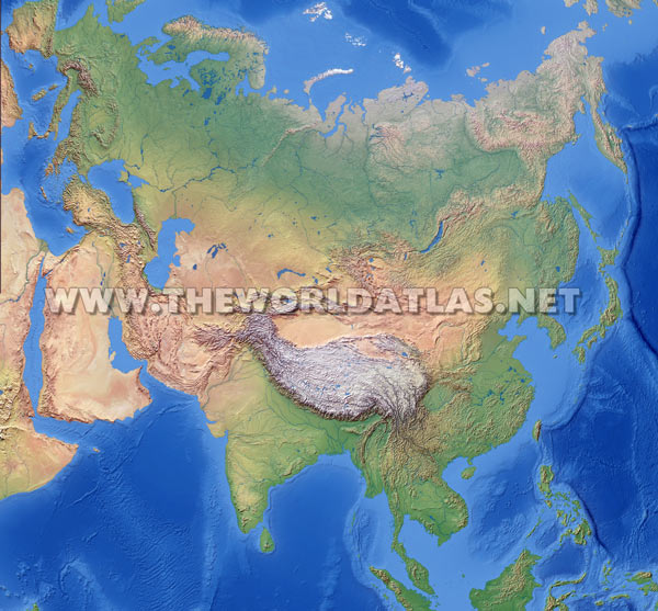World Map Of Asia