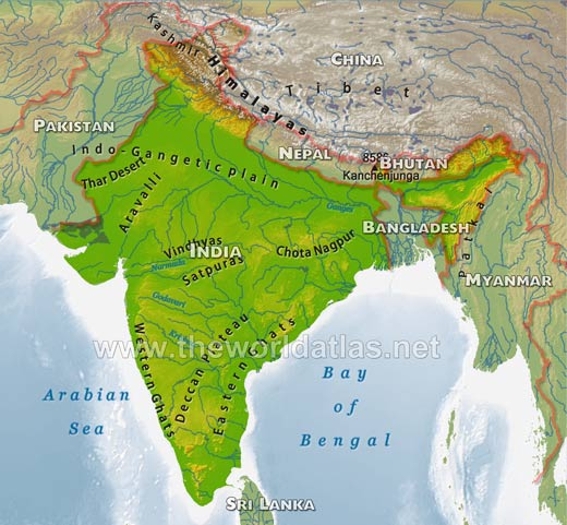 Physical Map Of Deccan Plateau Indo Gangetic Plain Map
